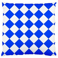 Blue White Diamonds Seamless Large Cushion Case (one Side) by Nexatart