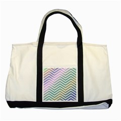 Zigzag Line Pattern Zig Zag Two Tone Tote Bag by Nexatart