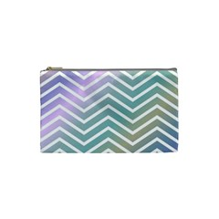 Zigzag Line Pattern Zig Zag Cosmetic Bag (small)