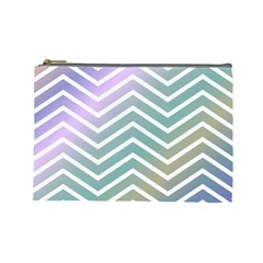 Zigzag Line Pattern Zig Zag Cosmetic Bag (large)