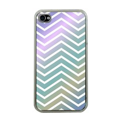 Zigzag Line Pattern Zig Zag Apple Iphone 4 Case (clear)