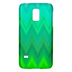 Green Zig Zag Chevron Classic Pattern Galaxy S5 Mini