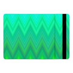 Green Zig Zag Chevron Classic Pattern Apple Ipad Pro 10 5   Flip Case by Nexatart