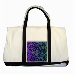 Triangle Tile Mosaic Pattern Two Tone Tote Bag