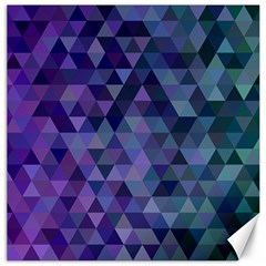 Triangle Tile Mosaic Pattern Canvas 16  X 16   by Nexatart