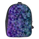 Triangle Tile Mosaic Pattern School Bag (Large) Front