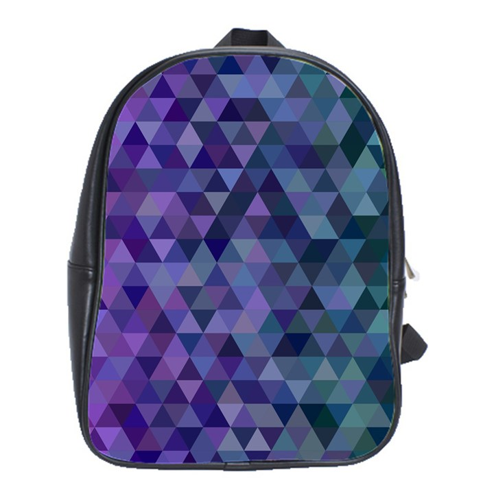 Triangle Tile Mosaic Pattern School Bag (Large)