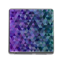 Triangle Tile Mosaic Pattern Memory Card Reader (square) by Nexatart