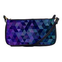 Triangle Tile Mosaic Pattern Shoulder Clutch Bags