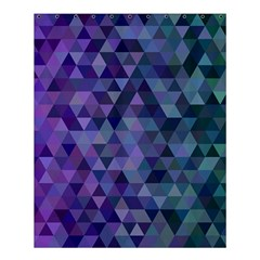 Triangle Tile Mosaic Pattern Shower Curtain 60  X 72  (medium)  by Nexatart