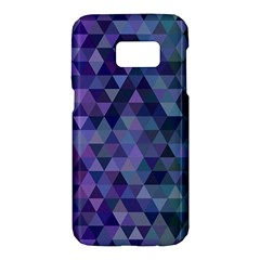 Triangle Tile Mosaic Pattern Samsung Galaxy S7 Hardshell Case  by Nexatart