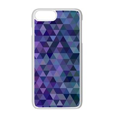 Triangle Tile Mosaic Pattern Apple Iphone 7 Plus White Seamless Case by Nexatart
