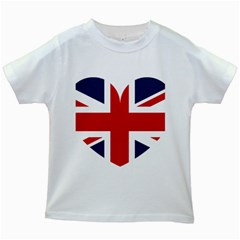 Uk Flag United Kingdom Kids White T Shirts