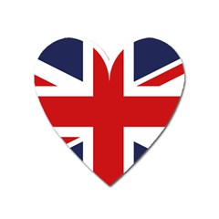 Uk Flag United Kingdom Heart Magnet by Nexatart