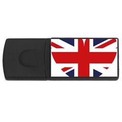 Uk Flag United Kingdom Rectangular Usb Flash Drive