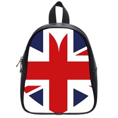 Uk Flag United Kingdom School Bag (small)