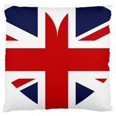 Uk Flag United Kingdom Large Flano Cushion Case (one Side) by Nexatart