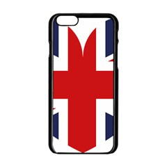 Uk Flag United Kingdom Apple Iphone 6/6s Black Enamel Case by Nexatart