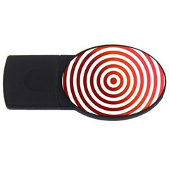 Concentric Red Rings Background Usb Flash Drive Oval (2 Gb) by Nexatart
