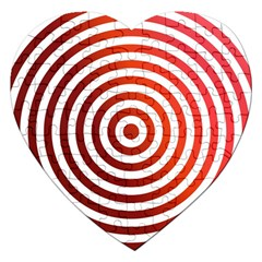 Concentric Red Rings Background Jigsaw Puzzle (heart) by Nexatart