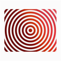 Concentric Red Rings Background Small Glasses Cloth by Nexatart
