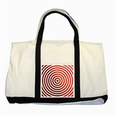 Concentric Red Rings Background Two Tone Tote Bag by Nexatart