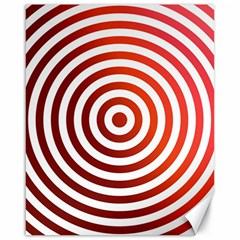 Concentric Red Rings Background Canvas 16  X 20   by Nexatart