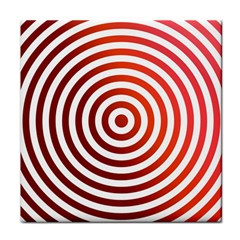 Concentric Red Rings Background Face Towel by Nexatart