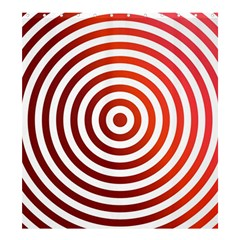 Concentric Red Rings Background Shower Curtain 66  X 72  (large)  by Nexatart