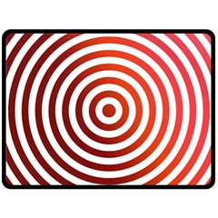 Concentric Red Rings Background Fleece Blanket (large)  by Nexatart