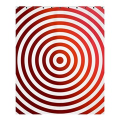 Concentric Red Rings Background Shower Curtain 60  X 72  (medium)  by Nexatart