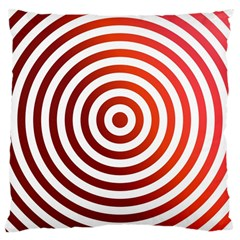 Concentric Red Rings Background Large Cushion Case (two Sides) by Nexatart