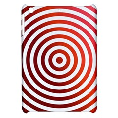 Concentric Red Rings Background Apple Ipad Mini Hardshell Case