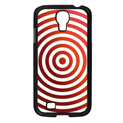 Concentric Red Rings Background Samsung Galaxy S4 I9500/ I9505 Case (black) by Nexatart