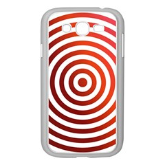 Concentric Red Rings Background Samsung Galaxy Grand Duos I9082 Case (white) by Nexatart
