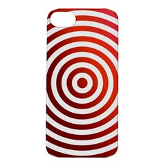 Concentric Red Rings Background Apple Iphone 5s/ Se Hardshell Case by Nexatart