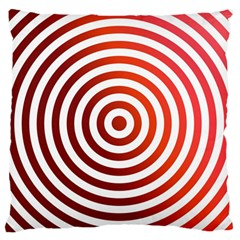 Concentric Red Rings Background Large Flano Cushion Case (one Side) by Nexatart