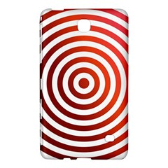 Concentric Red Rings Background Samsung Galaxy Tab 4 (8 ) Hardshell Case  by Nexatart