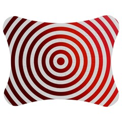 Concentric Red Rings Background Jigsaw Puzzle Photo Stand (bow) by Nexatart