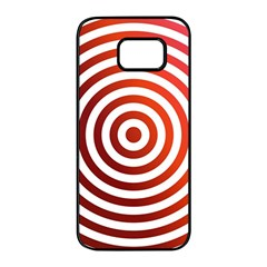 Concentric Red Rings Background Samsung Galaxy S7 Edge Black Seamless Case