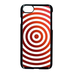 Concentric Red Rings Background Apple Iphone 7 Seamless Case (black)