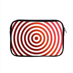 Concentric Red Rings Background Apple Macbook Pro 15  Zipper Case
