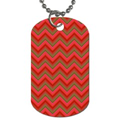 Background Retro Red Zigzag Dog Tag (two Sides) by Nexatart