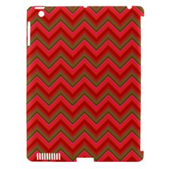 Background Retro Red Zigzag Apple Ipad 3/4 Hardshell Case (compatible With Smart Cover)