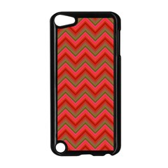 Background Retro Red Zigzag Apple Ipod Touch 5 Case (black) by Nexatart
