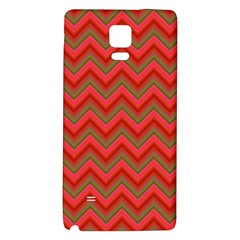 Background Retro Red Zigzag Galaxy Note 4 Back Case by Nexatart