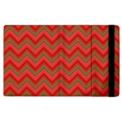 Background Retro Red Zigzag Apple Ipad Pro 9 7   Flip Case by Nexatart