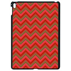 Background Retro Red Zigzag Apple Ipad Pro 9 7   Black Seamless Case