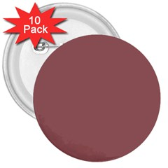 Blush Gold Coppery Pink Solid Color 3  Buttons (10 Pack)  by PodArtist