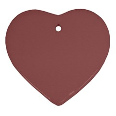 Blush Gold Coppery Pink Solid Color Heart Ornament (two Sides) by PodArtist